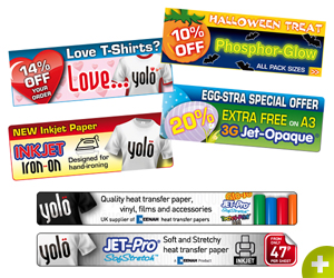 various web adverts for Yolo