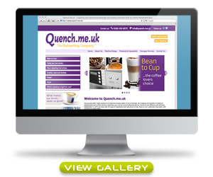 Click here to view screen grabs of the Quench website
